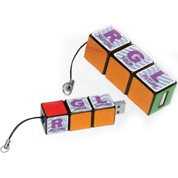A Rubik's Cube themed USB drive is just one of the ways you can put your own spin on promotional products.