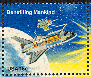 benefiting mankind postage stamp from 1981