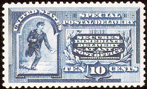 special postage delivery postage stamp from 1888